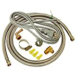 EZ-FLO 48337 Dishwasher braided stainless steel Installation Kit with...