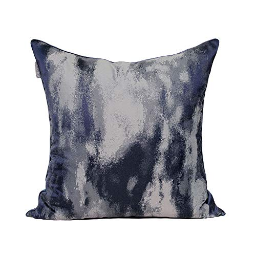 Sherwy Oreiller nordique de style abstrait bleu texture oreillers haute précision coussin de tissu lit de luxe coussins lombaires dossier de chambre modèle adapté aux dossiers de style maison, 45cm x