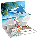 Up with Paper Pop-Up Treasures Gift Card Holder - Tropical Beach