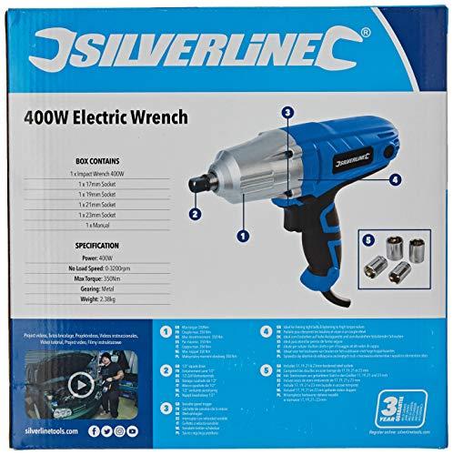 Silverline 593128 Clé à Chocs silverstorm 400 w, Multicolore