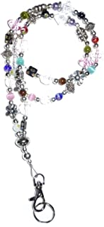 Hidden Hollow Beads Slim Multi Mag Slim Multi Fashion Women's Beaded Lanyard with Break Away Magnetic Clasp 34