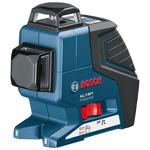 Bosch Professional GLL 2-80 P, 80 m Arbeitsbereich , ± 0,2 mm/m Nivelliergenauigkeit, Schutztasche, Laserzieltafel, L-BOXX, Universalhalterung