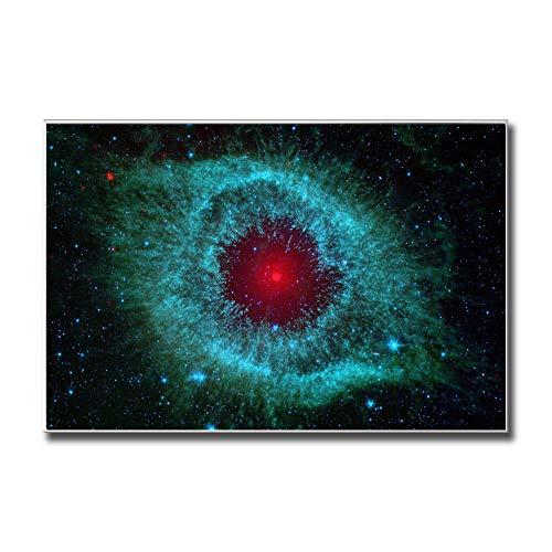 RLJHG Estilo escandinavo Galaxia Nebulosa Espacio Astronomía Universo Nubes Decoración Cielo Estrellado Hogar Sala de Estar Estrella Lienzo Cuadro 60x80cm Sin Marco