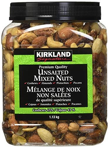 Kirkland Signature Extra Fancy Unsalted Mixed Nuts 2.5 (LB) (Pack of 2)