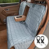 OKMEE Car Bench Seat Cover Compatible for Middle Armrest, 100% Waterproof Dog Car Seat Covers for Back Seat Trucks, SUVs & Cars