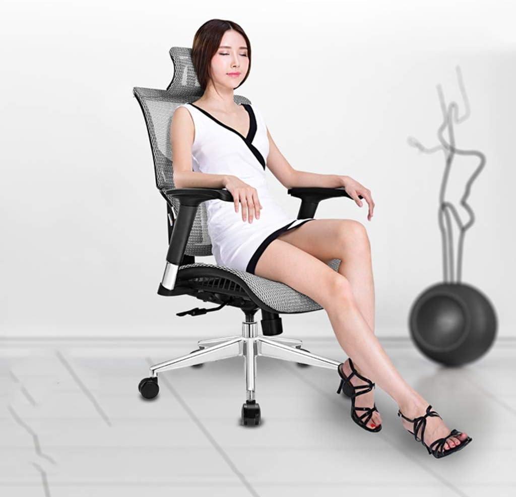 genneric Chaise de Bureau, ergonomie Président Mesh Chaise Bureau d'ordinateur Chaise Haute Fauteuil w/appuie-tête et Accoudoirs (26.4X24.4X42.3 in) (Color : Gray) Green