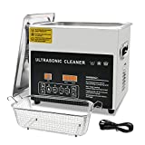 Ultrasonic Cleaner 3L,Ultrasonic Jewelry Cleaner with Digital Timer Heater,Professional Stainless Steel Cleaner Machine with Timing/Degassing Function for Jewelry Tools,Instruments and Industrial Use