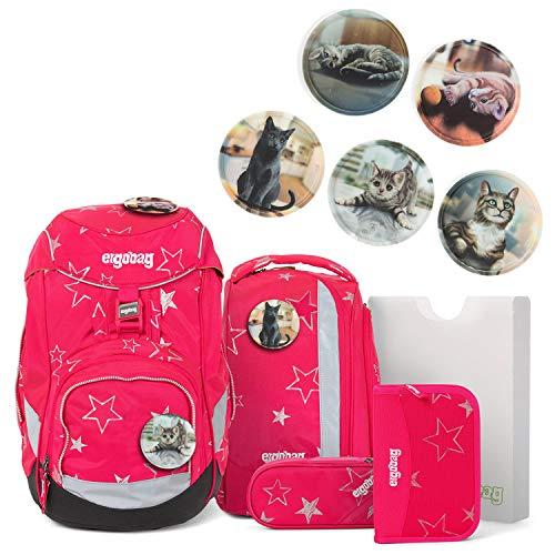 Ergobag Pack Set 6tlg CinBärella mit Wunschkletties Katzen