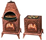 Deeco DM-0039-IA-C Aztec Allure Cast Iron Pizza Oven Chiminea