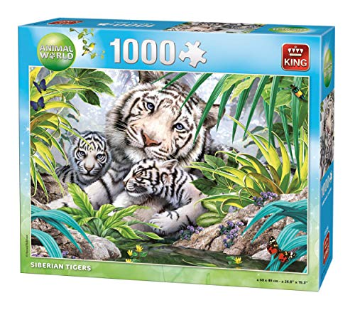 King Animal World Siberian Tiger 1000 pcs 1000pieza(s) - Rompecabezas (Jigsaw Puzzle, Fauna, Adultos, Animal World, Tigre, 8 año(s))