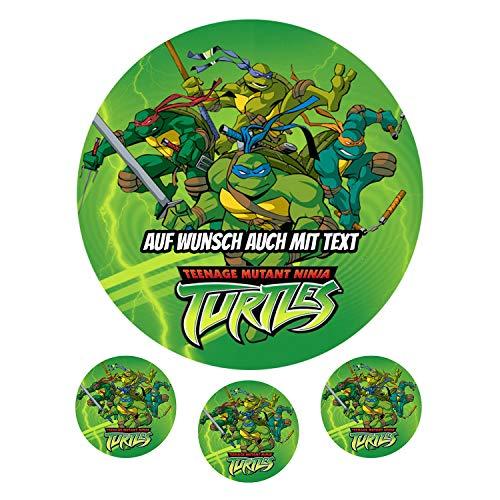 Tortenaufleger aus Zuckerpapier - Tortenbild Geburtstag Tortenplatte Zuckerbild Motiv: Teenage mutant ninja turtles