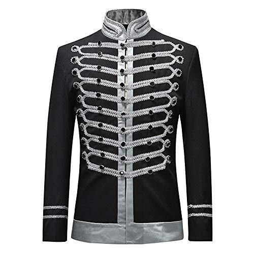 Dihope, heren retromantel, middeleeuws, blouson, blazer, keu, Steampunk, Gothic, kostuumjas, outwear coat, bruiloft, gala, feest, kostuum, cosplay