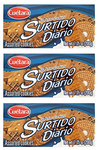 Cuetara Galletas Surtido Diario Assorted Cookies 7.05 oz Box (3 Pack)