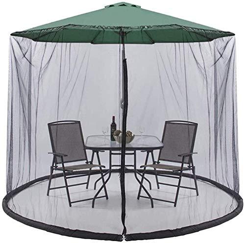 XBR Anti-Mosquiteros Paraguas su sombrilla en un Gazebo Jardín Cubierta para Mosquitos Sombrilla Sombrilla Red con Cremalleras para Interior y Exterior, g (Color: 300 * 230cm)