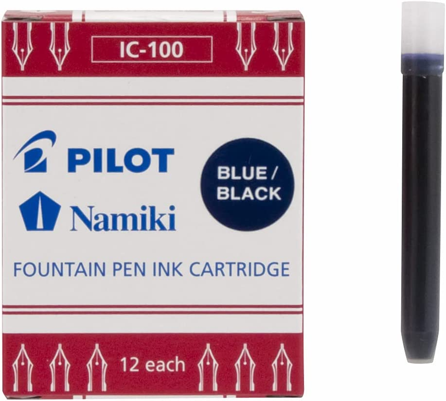 PILOT Namiki IC100 Very popular! Fountain Pen 12-P Black Blue Cartridges All items in the store Ink
