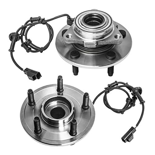 Front Wheel Hub and Bearing Assembly Left or Right Compatible 2002-2005 Dodge Ram 1500 AUQDD 515073 x2 (Pair) [ 5 Lug W/ABS 4WD 4x4 ]