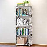 Organizzatore Libreria Ripiano Ripostiglio Camera da Letto Soggiorno Casa(Lotus Flower)
