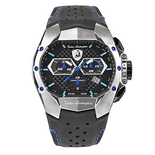 Tonino Lamborghini GT1 Chronograph Watch Steel Blue