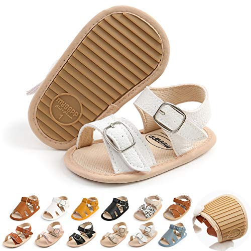 Baby Boys Girls Sandal Summer Infant Toddler Baby Walking Shoes Soft Rubber Sole Non-Slip Flat Shoes First Walkers Prewalkers