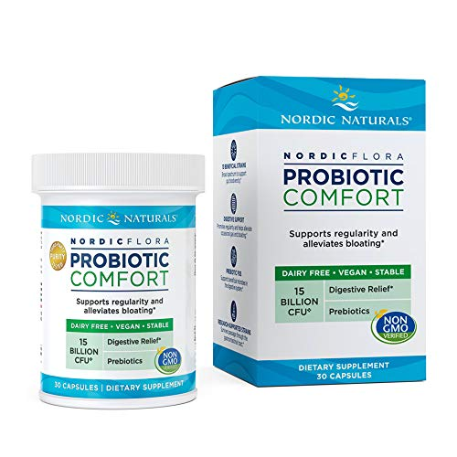 Nordic Naturals Flora Probiotic Comfort - Probiotic for Intestinal Health, For Those With Digestive Issues, 30 Capsules