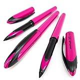 Uni-Ball AIR Micro - Bolígrafo de punta redonda fina de 0,5 mm, tinta azul, barril rosa, paquete de 6
