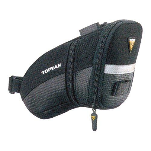 TOPEAK Aero Wedge Pack (QuickClick) - Bolsa para sillĂn de Bicicletas, Color Negro, Talla M