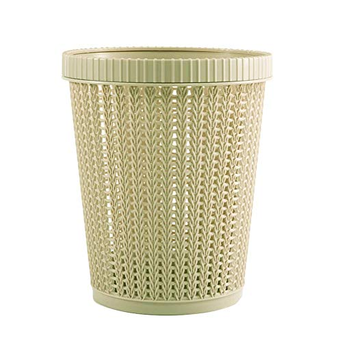 Wghz Drop-Resistant and Durable Trash Can, Plastic Buckets for Household Self-Pumping Garbage Bags, Hollow Garbage Bin Storage Basket with Built-in Garbage Bag Box Coverless for Home