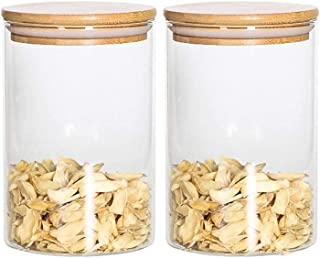 Pkfinrd Conteneurs de Stockage JAR Toile de Stockage d'aliments Set de Stockage Verre Biscuits Organisation Transparent po...
