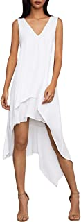 BCBGMAXAZRIA Women's Kaira V-Neck Asymmetrical-Hem Dress