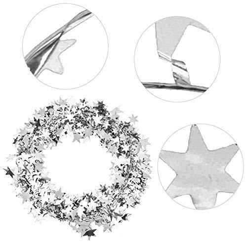 HEEPDD 7,5 m kleine ster slinger, kleurrijke bekabelde slinger gemakkelijk op te hangen kerstversieringen Star Tinsel slingers voor partij benodigdheden en decoraties feestelijke Ornament