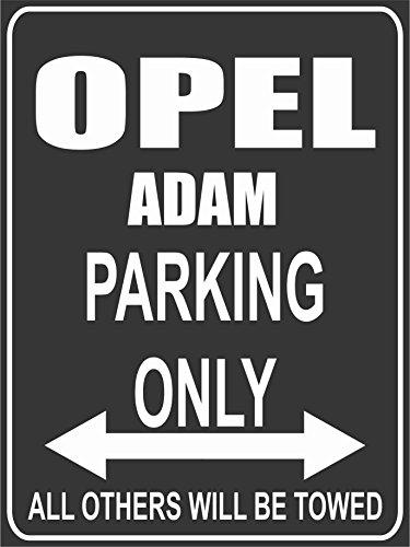 INDIGOS UG Park-opel-adam Parkplatzschild, Schwarz