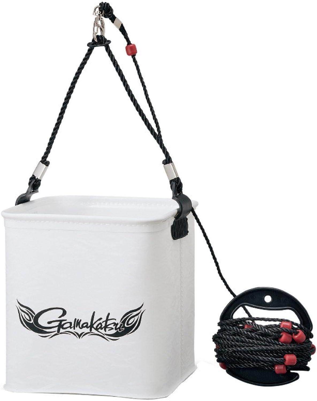 Gamakatsu (Gamakatsu) Drawing Water Bucket (with a Rope Winding) GM-2440 White Large