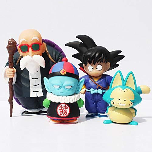 CXNY 4 unids/Set Dragon Ball Pilaf Puar Son Goku Master Roshi PVC Figura de acción Juguetes muñeca colectiva para Regalo de niños