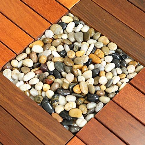 OLMME Piedras Decorativas de 10 Kg Guijarros de Río para Macetas Jardineras Rellenos de Jarrones Pavimentación de Jardín Decoración de...