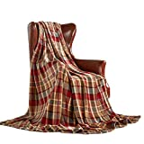 MERRYLIFE Throw Blanket Plaid  Ultra-Plush Soft Colorful Oversized   Decorative Couch Travel Blanket   (50' 60', Love Urban)