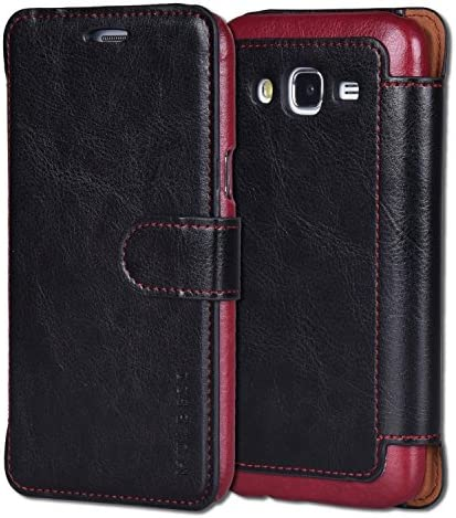 Mulbess Layered Samsung Galaxy J5 2017 Leather Case Flip Phone Case Wallet with Magnetic Clasp product image