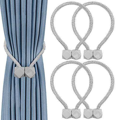 2Buyshop 4 PCS Magnetvorhang-Raffhalter, bequeme Vorhang-Raffhalter im europäischen Stil, dekorative Vorhang-Raffhalter für Fenstervorhänge , Kein Werkzeug erforderlich
