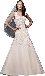 Sample: As-is Tulle Cap Sleeve Mermaid Wedding Dress Style AI10012740