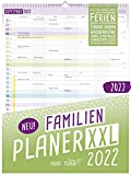 FamilienPlaner XXL 2022 mit 7 Spalten, 33 x 44 cm | Wandkalender Jan - Dez 2022 | Familienkalender Wandplaner: Ferientermine, viele Zusatzinfos + Vorschau bis März 2023 | nachhaltig & klimaneutral