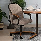 AW Furniture Casual Dining Barell Swivel and Tilt Rolling Dining Chair - 38' Hx24 Wx22 D