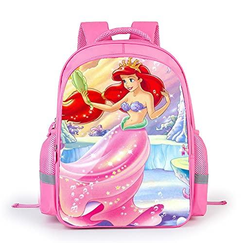 Tylyund cartella Zaino Del Fumetto Sirenetta Ariel Principessa Sacchetto Di Scuola Per Bambini Sacchetti Di Libri Di Fiabe Per Ragazze Adolescenti Mochila Bolsa