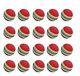 NiceButy - Pelota de golf (20 unidades, espuma, color arco iris, para práctica...