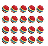 NiceButy Bolas de golf de práctica, 20 unidades, espuma, color arco iris, para...