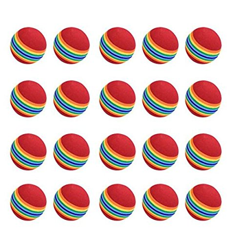 Nicebuty Practise Balles de golf, 20Pcs, mousse, Rainbow, couleur, pour l'intérieur/extérieur...