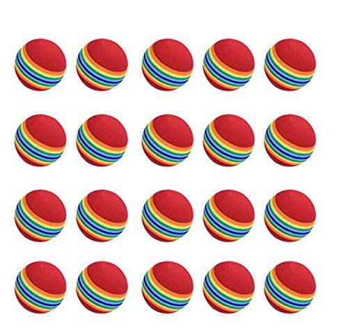nicebuty práctica pelotas de golf, 20unidades, espuma, color arcoíris, para interior/al aire libre Golf práctica