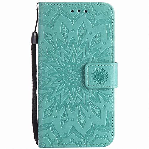 XYAL0002001 Xingyue Aile Cover für LG Q8 Q6 V30 V20 V10 K3 K10 2017 K4 K5 K7 K8, Lederholster Handytaschen für LG G6 G5 G4 G3 Mini X Power Nexus 5X LS775 LS777 P06Z, grün, For LG K8 K350N