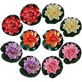 10 piezas de Romantic flotantes Flor, a Prueba de Agua Flor de Loto para los Amantes y los Niños, se Aplica a San Valentín día de la Boda Acuarios Decoración