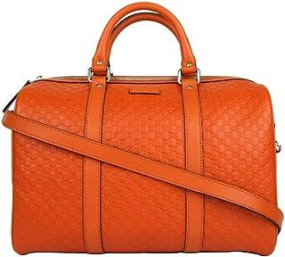 4a97e47d5e0 Gucci Women s Orange Guccissima Leather Medium Boston Bag 449646 7527