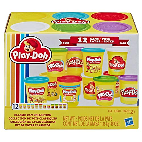 Play-Doh Retro Compound Pac Classic Can Collection (12 CANISTERS)