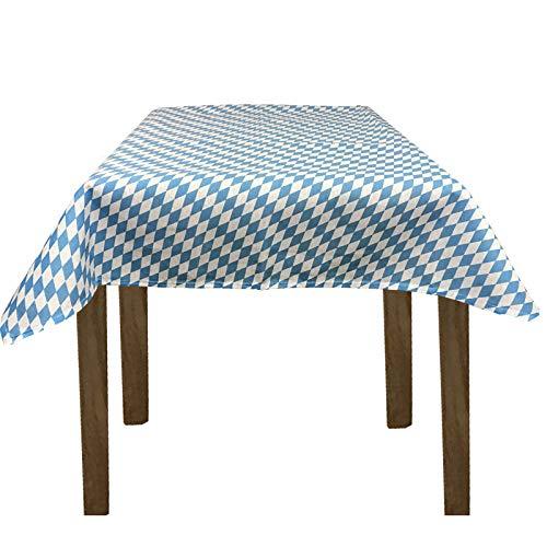 JEMIDI Stofftischdecke für Bistrotische Tischdecke kariert Tischdecken Decke Tisch Tischdecken 135cm x 135cm Bayrische Raute